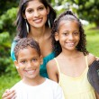Indian mother and children — Stock Photo