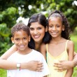 Happy latin mother and kids — Stock Photo