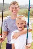 Fishing boys — Stock Photo