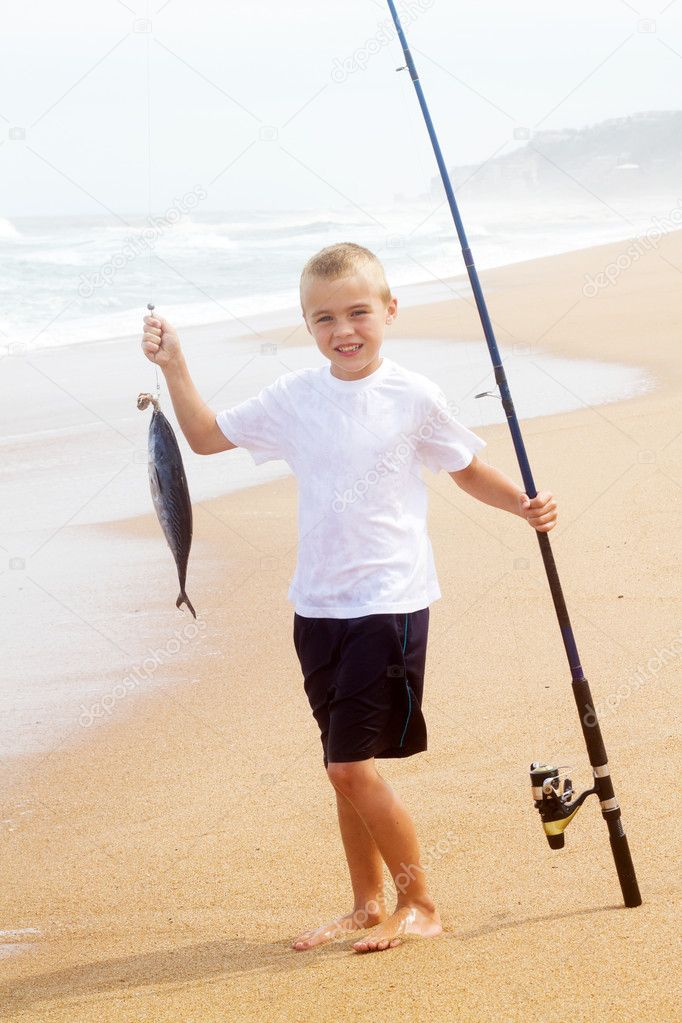 Little boy fishing stock photo michaeljung 10515737 for Little boy fishing