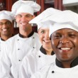 Group of professional chefs — Stock Photo