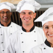 Chefs in kitchen — Stock Photo #10674422