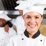 Beautiful female chef — Stock Photo