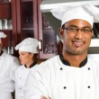 Professional indian chef — Stock Photo