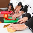 Stock Photo: Chefs cooking
