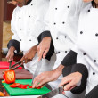 Chefs cooking in kitchen — Stock Photo #10674505