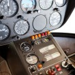 Stock Photo: Helicopter instrument and control panel