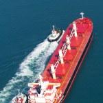 Ship on ocean — Stock Photo