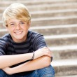 Cute teen boy - Stock Photo