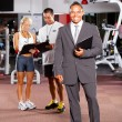 Gym manager and trainers — Stock Photo #10678036