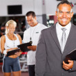 Gym manager and staff — Stock Photo