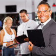 Gym manager and staff — Foto Stock