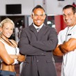 Gym manager and trainers — Stock Photo