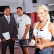Female gym trainer — Stock Photo
