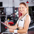 Gym instructor — Stock Photo