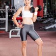 Fitness woman in gym — 图库照片