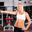 Fitness woman in gym — Stock Photo