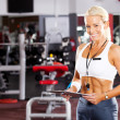 Gym personal trainer - Stock Photo
