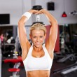 Stock Photo: Fitness womworkout