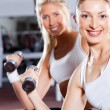 Stock Photo: Two fitness women