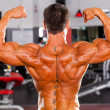 Rear view of bodybuilder — Stock Photo