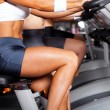 Group of women cycling in gym — Stock Photo #10679092