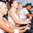 Group of cycling in gym — Stock Photo #10679237