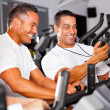 Stock Photo: Fitness man and personal trainer
