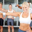 Group of exercise in gym — Stockfoto