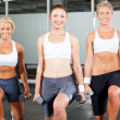 Group of exercise in gym — Stock Photo