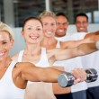 Group of working out in gym — Stock Photo