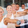 Group of working out in gym — Stock Photo #10679484