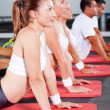 Fitness stretching — Stockfoto