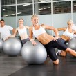 Group of in gym — Stock Photo