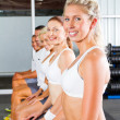 Young in gym — Stock Photo