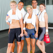 Group of in gym - Stock Photo
