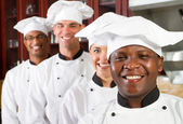 Group of professional chefs — Stock fotografie
