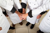 Chefs teamwork — Stock Photo