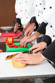 Chefs cooking — Stock Photo