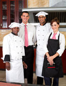 Restaurant staff — Stock Photo