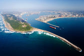 Aerial view of durban, south africa — Foto de Stock