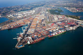 Durban harbor, south africa — Stock Photo