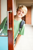 Cute high school boy — Stock Photo