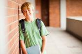 Teen student in school — Stock Photo