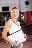 Female personal trainer — Stock Photo