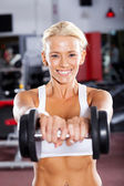 Active young woman workout — Stock Photo