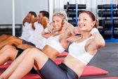 Fitness doing sit ups — Stock Photo