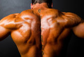 Bodybuilder's back — Stock Photo