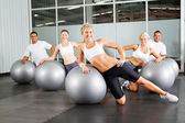 Group of in gym — Stock fotografie
