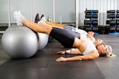 Workout in gym — Stock Photo